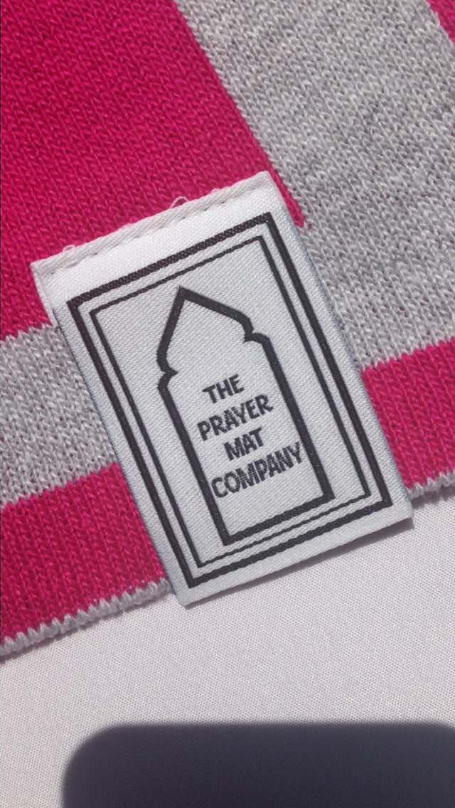 Pink Prayer mat label