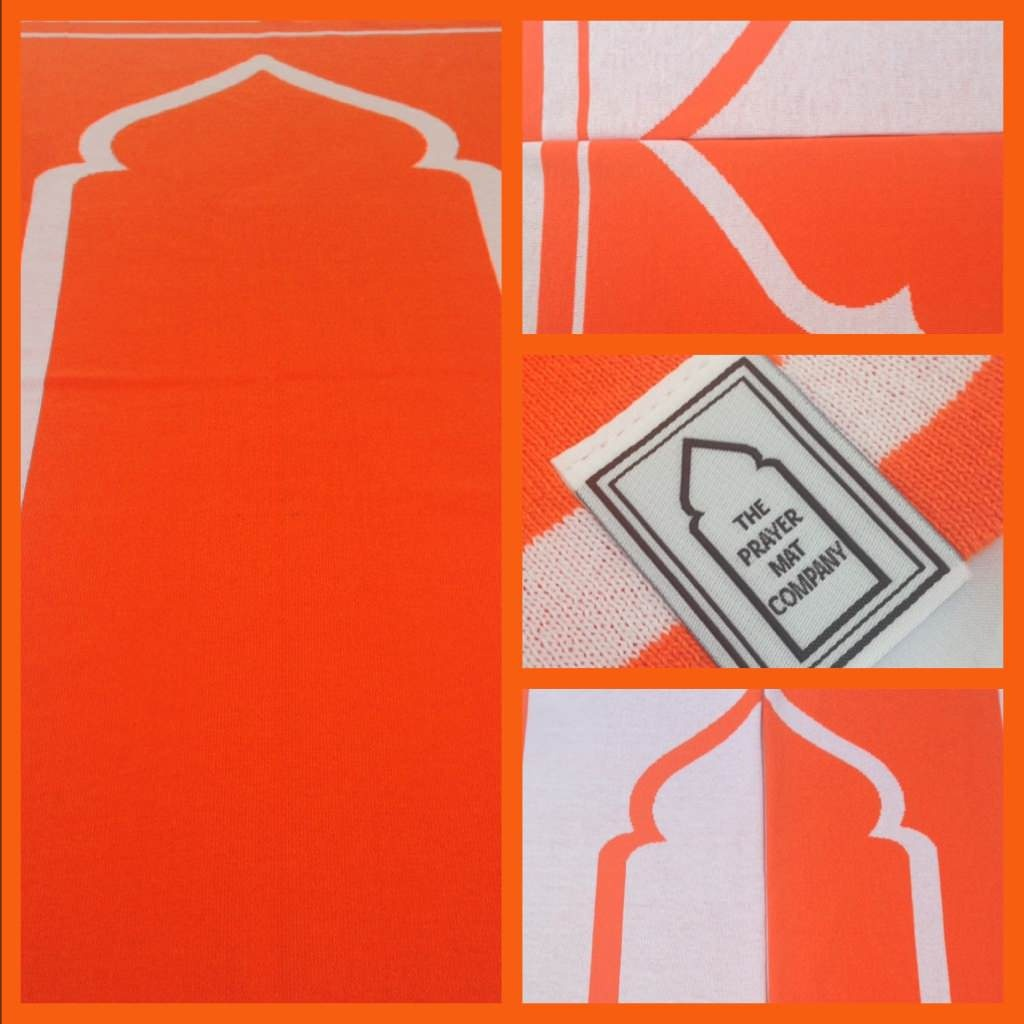orange prayer mat