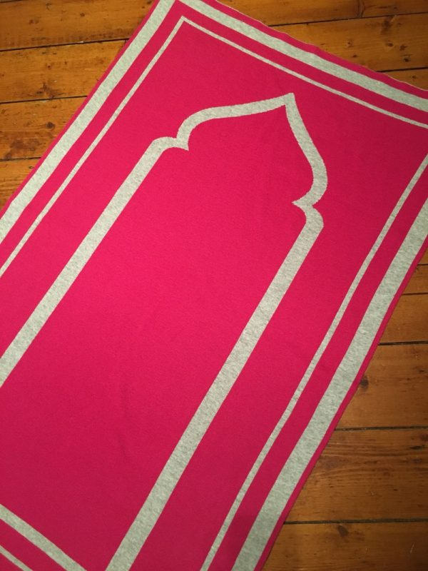 pink contemporary prayer mat rug salah