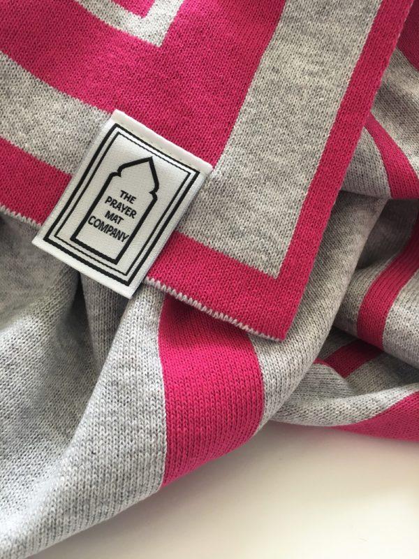 pink contemporary prayer mat rug salah