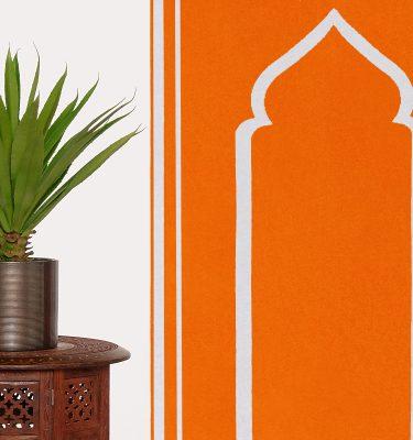 Orange Prayer Mat Plain Sejadah Musallah