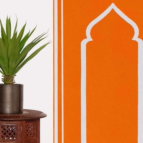 Orange Prayer Mat Plain Sejadah Musallah