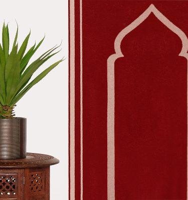 Luxury British Lambs Wool Prayer Rug Mat Highest Quality Musallah