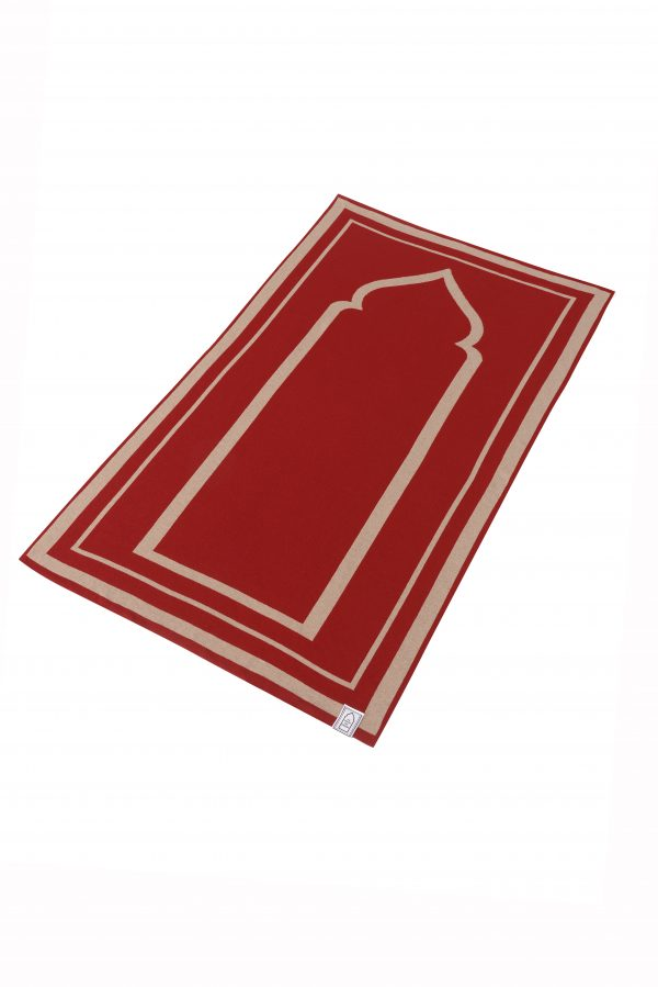 Burgundy Brown Prayer Mat Rug Sejadah Musallah Salah Namaaz