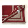 luxury british designer burgundy red cream contemporary prayer mat rug salah sejadah musalla