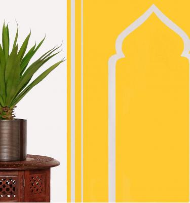 lemon yellow bright prayer mat ramadan eid gift