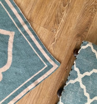 luxury teal lambs wool prayer mat rug made in britain