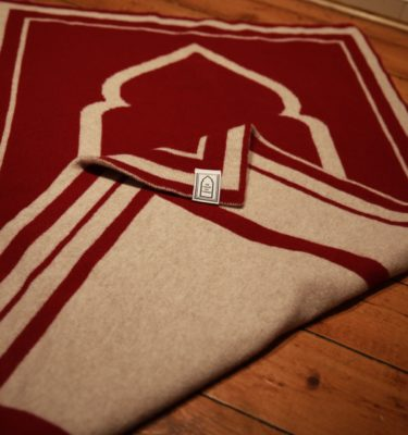 unique red british lambs wool prayer mat rug luxury high quality musallah