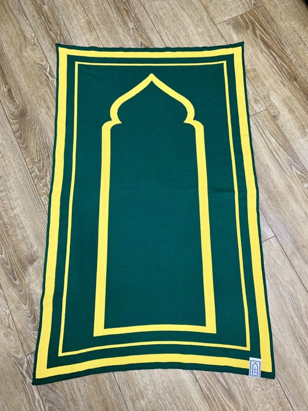 Dark Green Prayer Mat sejadah musallah salah jainamaz british designer luxury