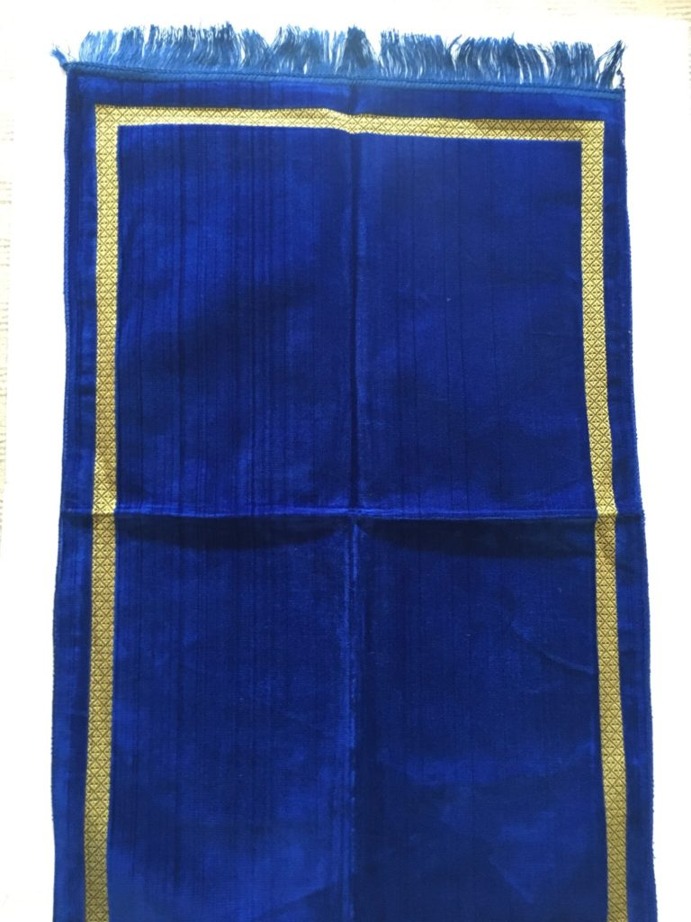 Royal Blue Velvet Style Turkish Prayer Mat The Prayer