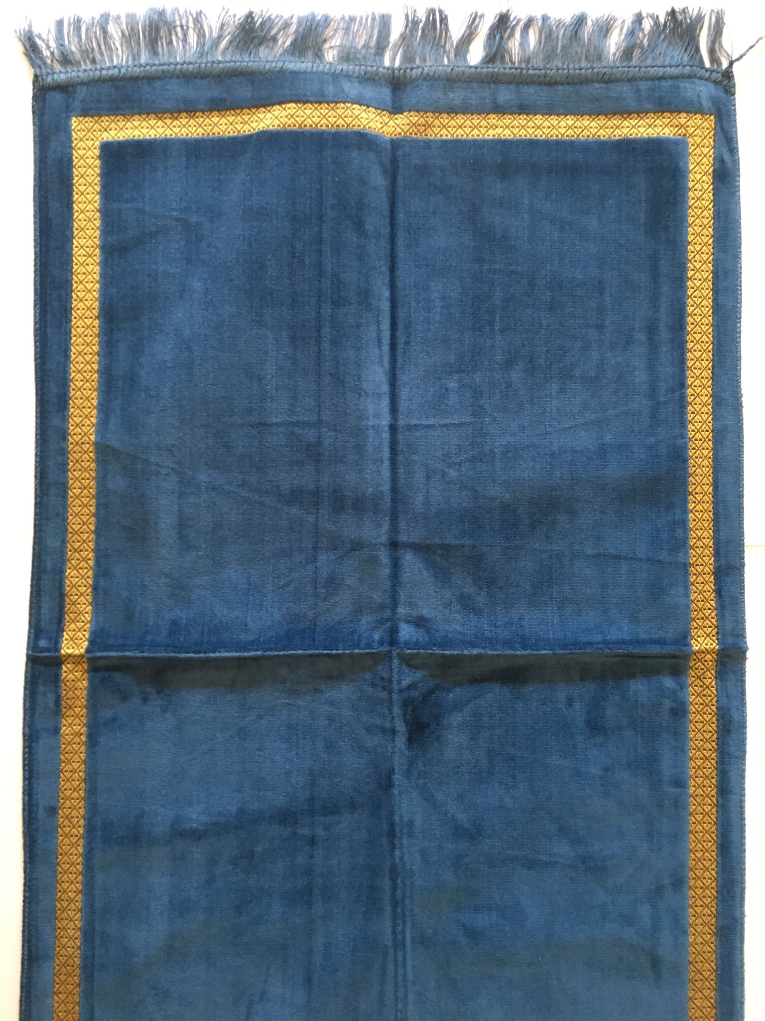 Blue Velvet Style Turkish Prayer Mat The Prayer Mat Company