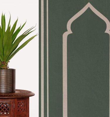Olive Green Prayer Mat Rug Sejadah Musallah