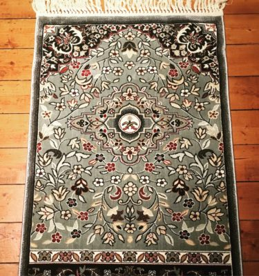 Authentic Haramain Green Rawdah Prayer Rug Mat Madinah