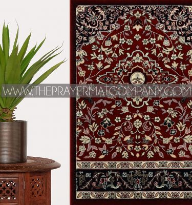 Red Haramain Rawdah Prayer Rug Mat