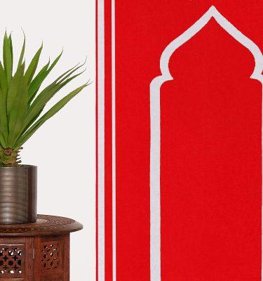 Red Prayer Mat Rug Sejadah Musallah Salah Namaaz