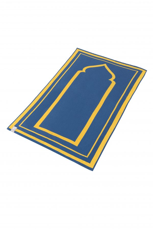 Yellow Prayer Mat Plain Sejadah Musallah