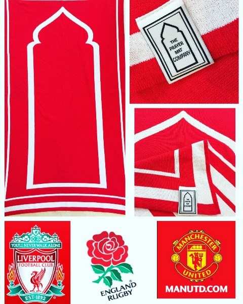 red plain contemporary prayer mat