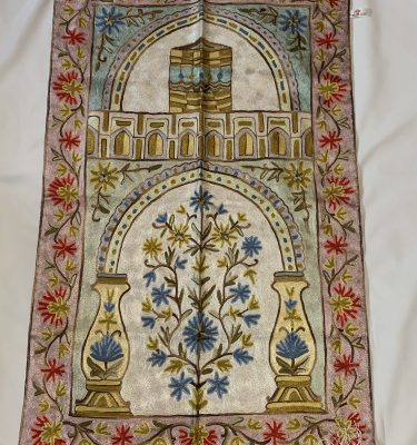 Handmade Hand Embroidery Prayer Mat Rug Carpet Praying Salah Sejadah Musallah