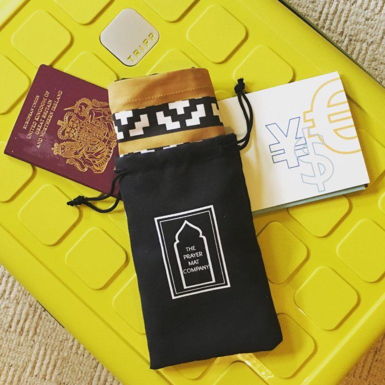 black pocket travel prayer mat sejadah