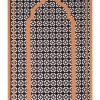 Pocket Travel Prayer Mat Unique monochrome geometric Sejadah light compass ramadan gift