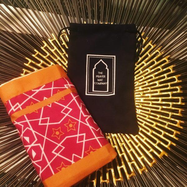 pink pocket travel prayer mat sejadah musallah