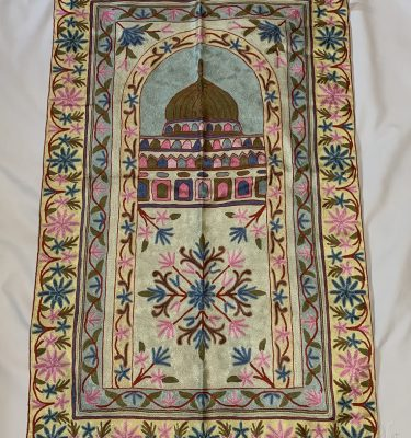 handmade embroidered kashmir unique prayer mat rug carpet