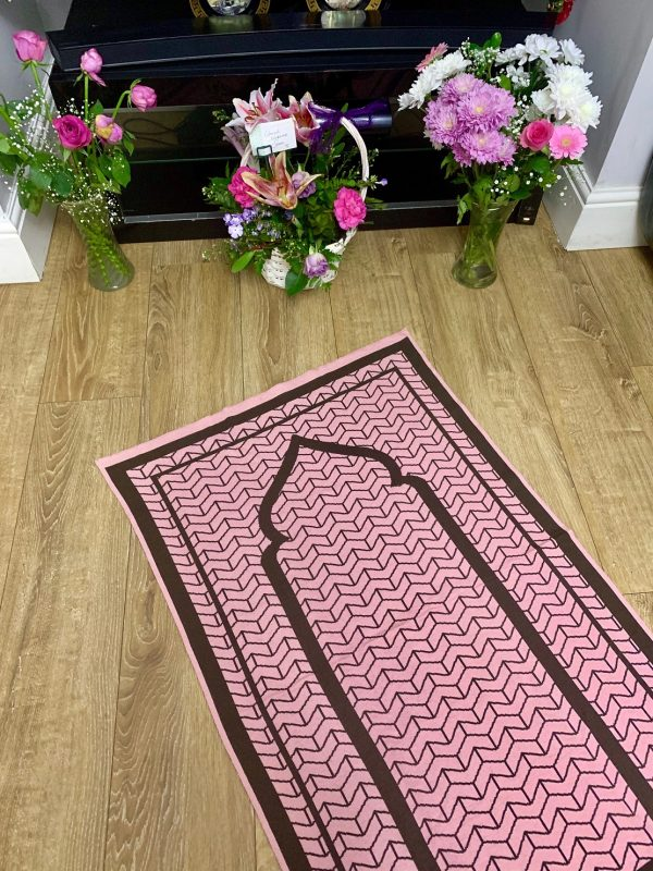 Baby Pink Prayer Mat Sejadah Musallah British Contemporary Unique