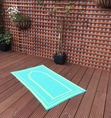 green grey british made designer prayer mat rug sejadah