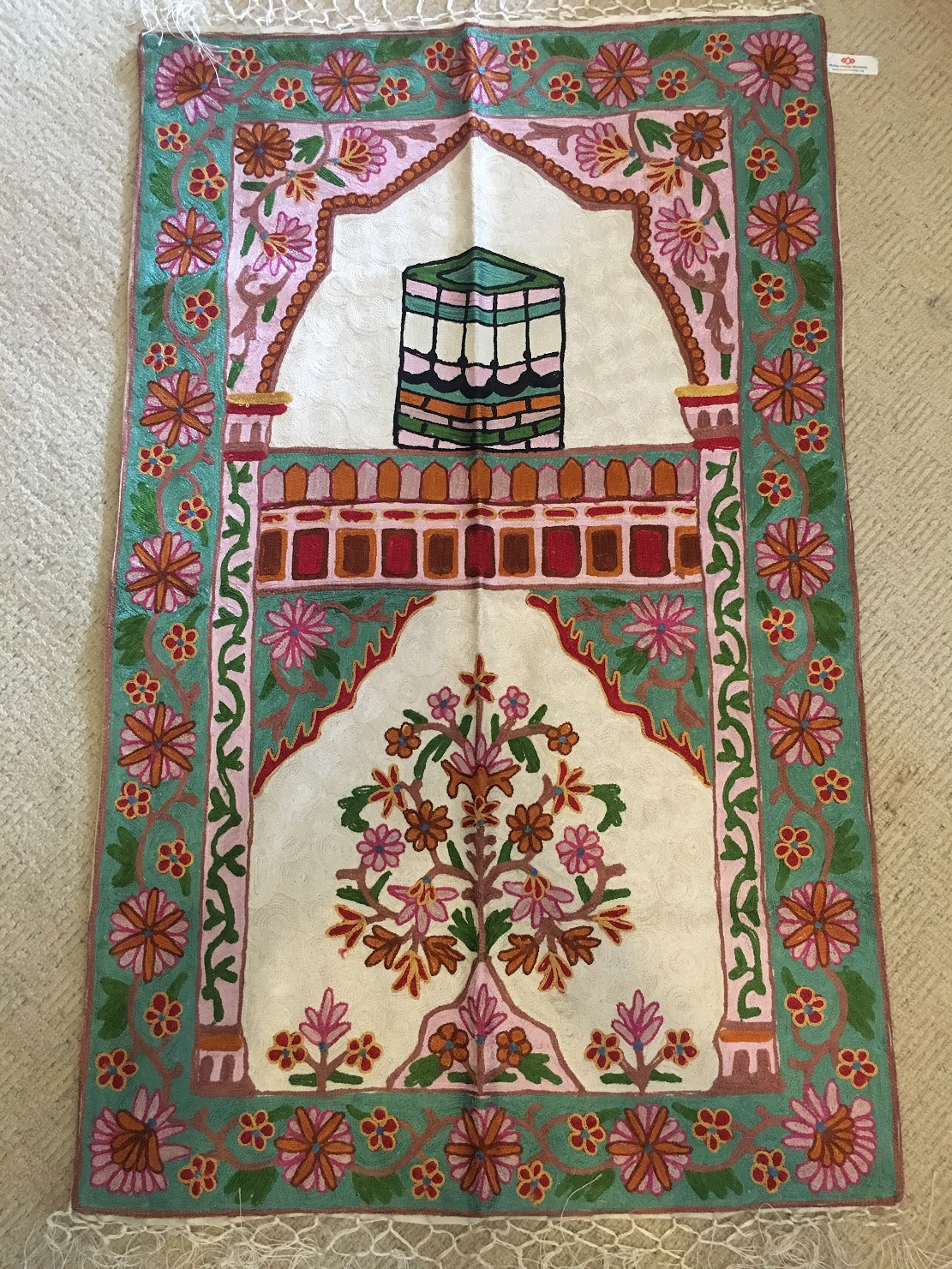 The Muniza Handmade Prayer Mat From Kashmir The Prayer