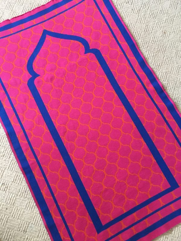 pink british made designer prayer mat rug moroccan