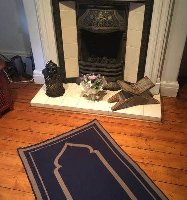 NAVY contemporary prayer mat rug
