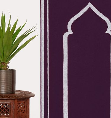 Purple Grey Prayer Mat Rug Sejadah Musallah Salah Namaaz