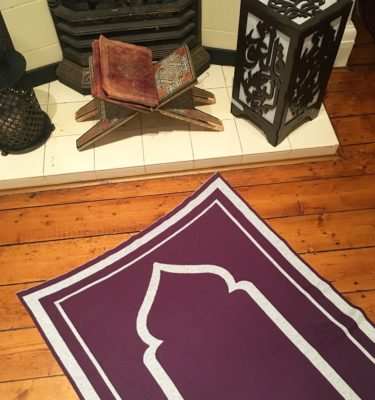 purple contemporary prayer mat rug salah