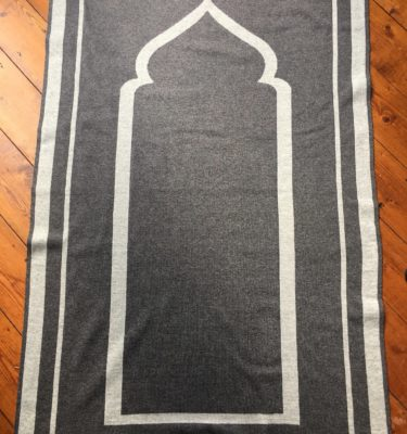 luxury high quality british designer grey prayer mat rug salah sejadah musalla