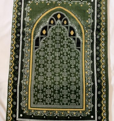 Green Padded prayer mat rug sejadah