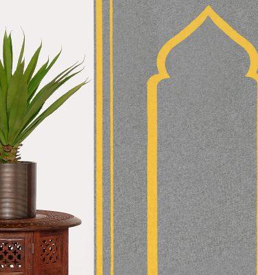 Mustard Grey Prayer Mat Rug Sejadah Musallah Salah Namaaz