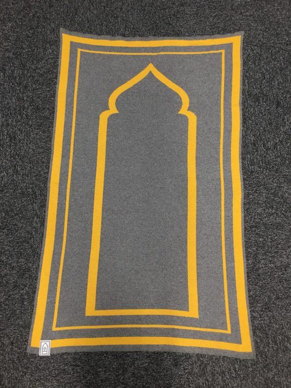 mustard grey contemporary prayer mat sejadah musallah