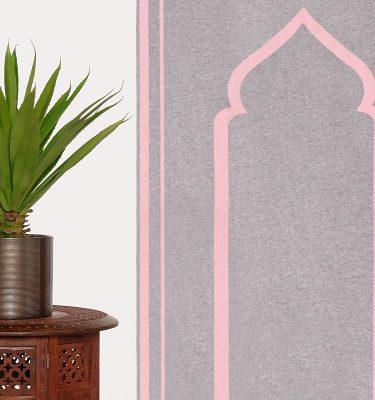 Baby Pink Grey Prayer Mat Plain Sejadah Musallah Salah Namaaz