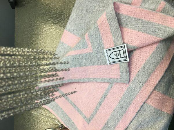 Prayer Mat sejadah in Baby pink grey cotton modern british designer luxury