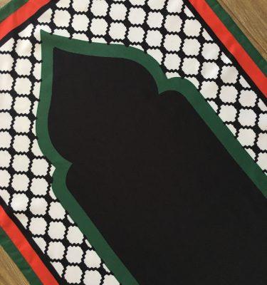 palestine pocket travel prayer mat musallah palestinian