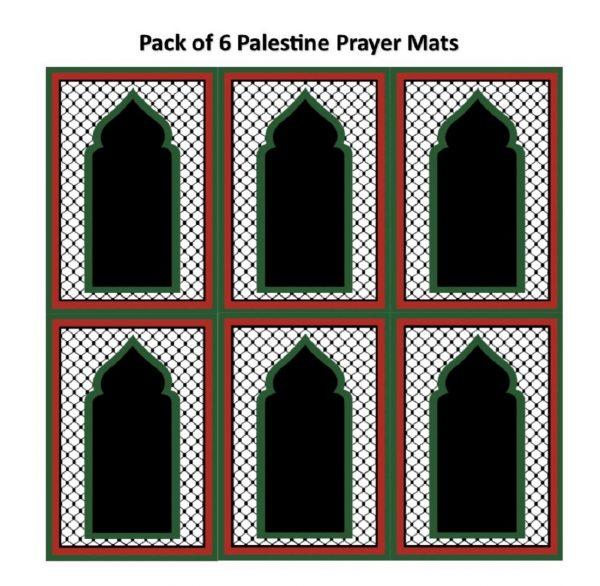 palestine flag pocket travel prayer mat musallah palestinian