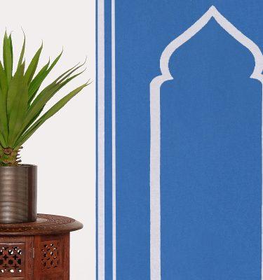 Blue Prayer Mat Plain Sejadah Musallah Salah Namaaz