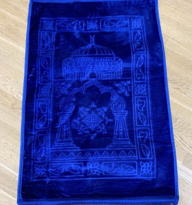 Royal Blue Velvet syle padded prayer rug