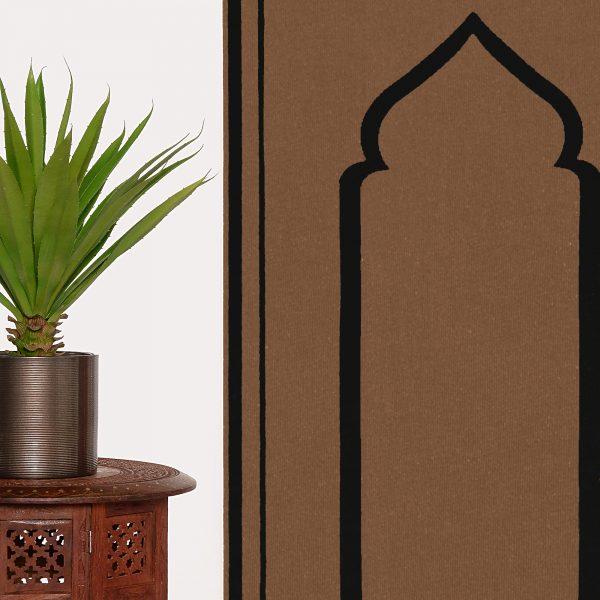 Brown Black Unique prayer mat praying rug salah