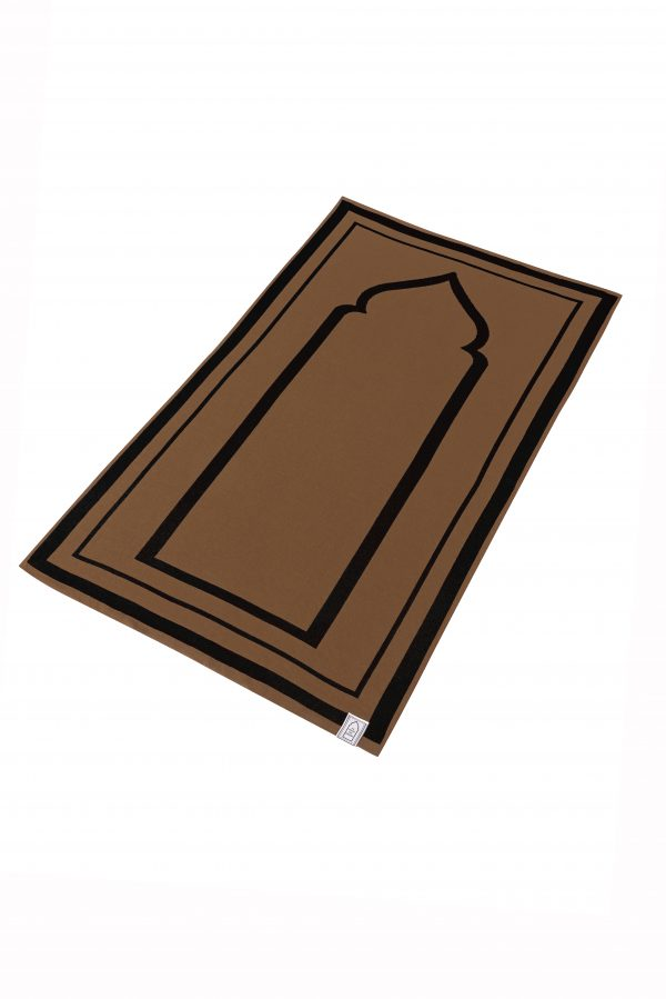 Brown Black Unique prayer mat praying rug salah