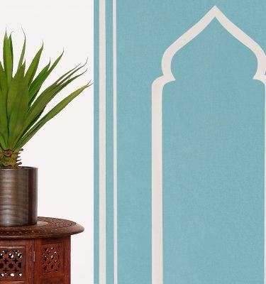 Cyan Turquoise Praying Prayer Mat Rug Sejadah Musallah