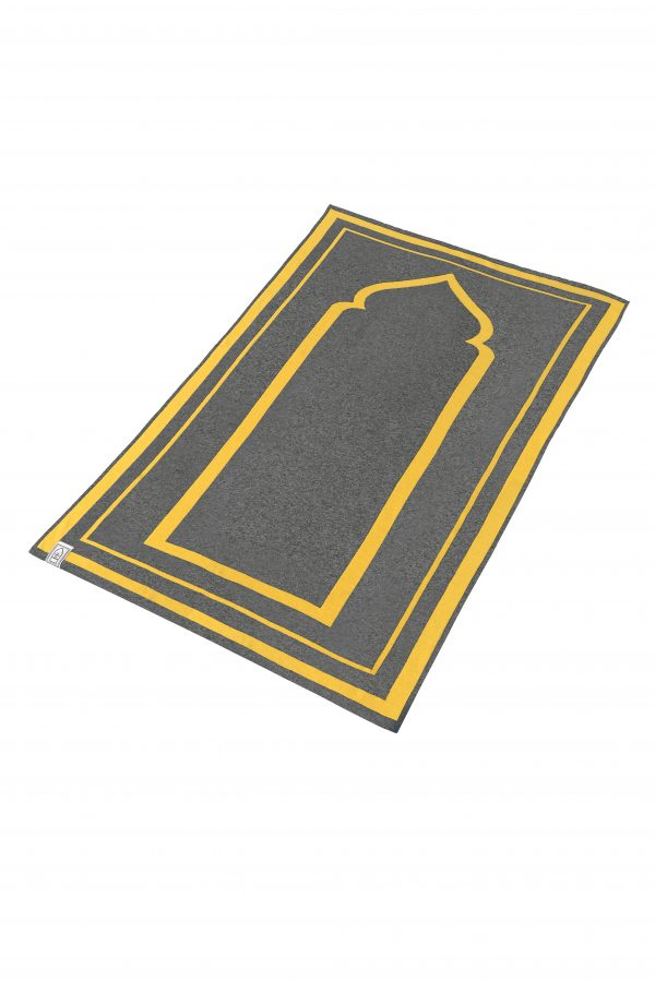 Mustard Grey Prayer Mat Praying Sujood Islam Ramadan Muslim Praying Sejadah
