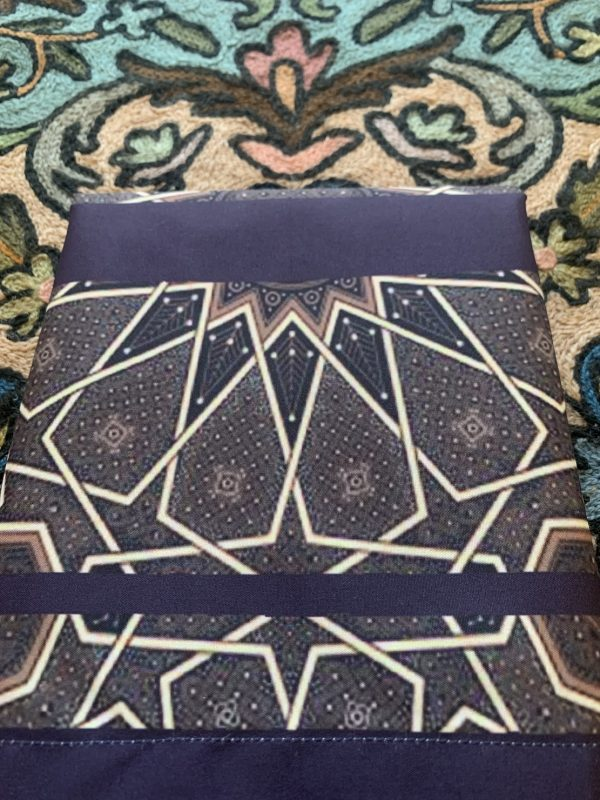 Navy Geometric Pocket Travel Prayer Mat portable salah mat