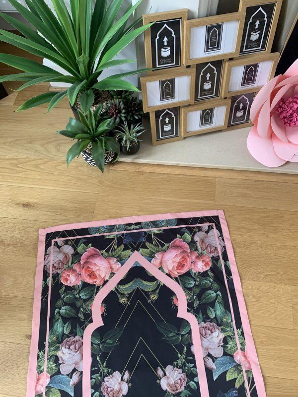 Floral pocket travel light prayer mat for salah